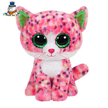 [QuanPaPa] New 15Cm cotton Animals Plush Toy Pink Cat Doll Regular Stuffed Animals Ty beanie boos Plush Toy For Baby(China)