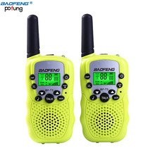 A Pair Baofeng T-3 5 Colors Adjustable Mini Portable Multi Channels 2-Way LCD UHF Car Auto Radio Wireless Travel Walkie Talkie
