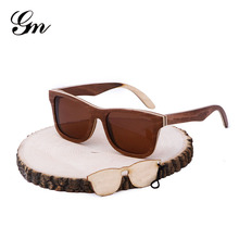 2018 G M factory direct sale, amazon sells hot skateboard wooden sunglasses can customize the LOGO, bamboo and wooden sunglasses(China)