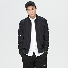 9XL 5XL Gangcheng send jacket to increase the code 2017 spring new men's youth personality stand baseball jacket Korean version