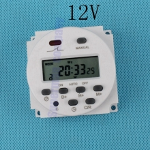 stable CN101A AC DC 12V Round Digital LCD Power Timer Weekly Programmable  Electronic Time Relay Switch 8A TO 16A CN101 weekly