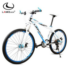 L260107/Mountain bike / 26 inch aluminum alloy frame / two disc brakes 27 speed students outdoor bike/Comfortable cushion(China)