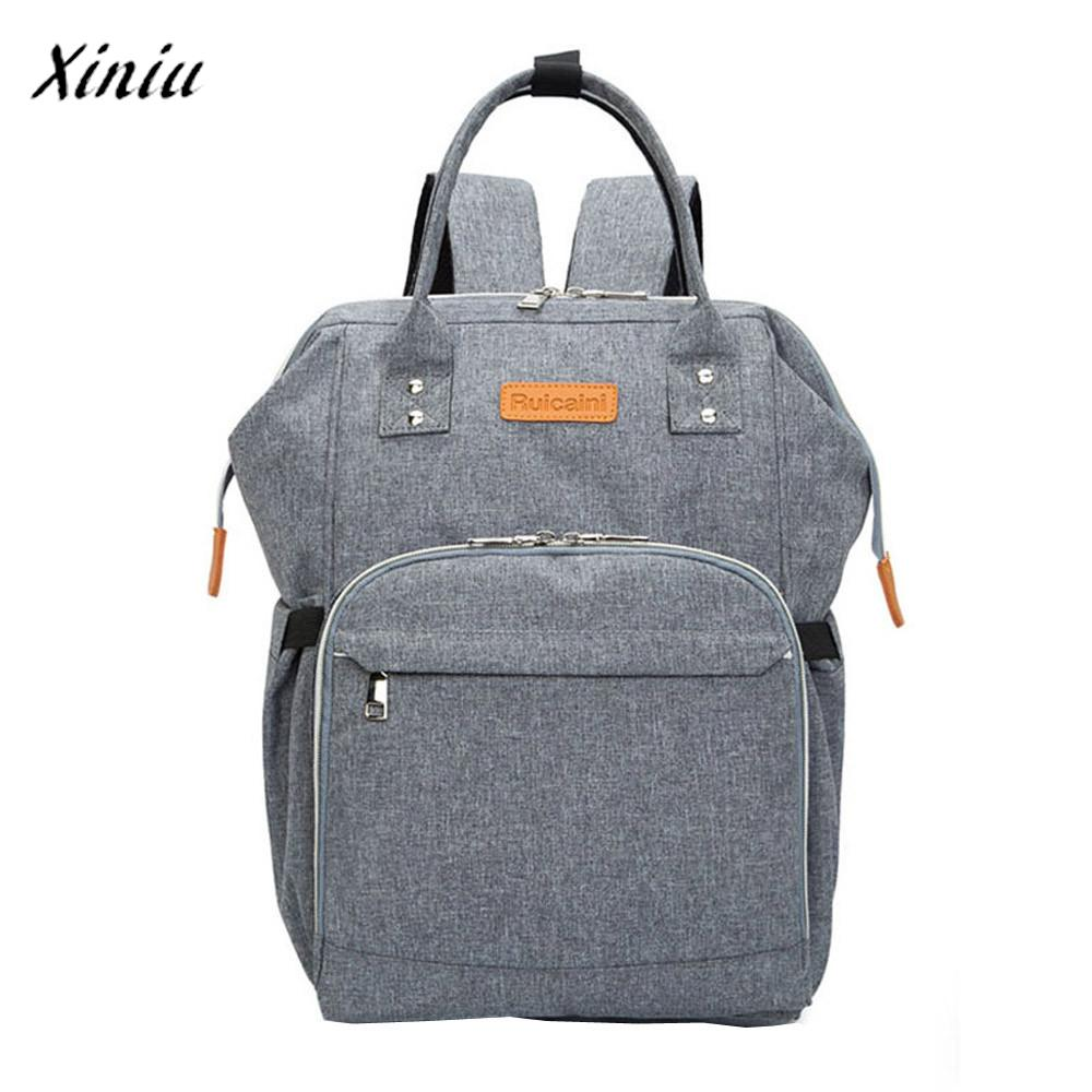 XINIU Backpacks Mommy Diaper Bags Baby Thermal Bag Portable Mother Oxford Nappy Tote Pack free shipping<br>