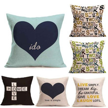 Ouneed  LOVE Letter Square Pillow Cover Cushion Case  Pillowcase Zipper Closure oct1021 Extraordinary