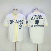 12 Tanner Boyle Bad News Bears Movie 1976 Chico's Bail Bonds WHITE Men Baseball Jersey 3 Kelly Leak Jerseys Viva Villa Free Ship