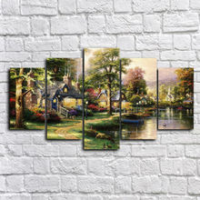 Picture Printed Pictures Thomas landscape Group Painting Room Decor Print Poster Picture Canvas picture wo0631