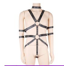 Buy PU Leather Harnesses Men Bdsm Fetish Bondage Slave Bondage Restraints Body Harness Malesex toys men Adult Game Bdsm Bondage