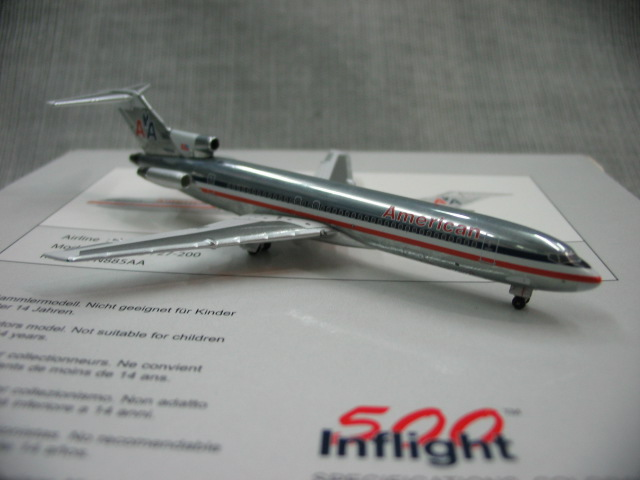 Special offer rare inflight 500 1: 500 American Airlines Boeing 727-200 n885aa Alloy aircraft model Favorites Model<br><br>Aliexpress