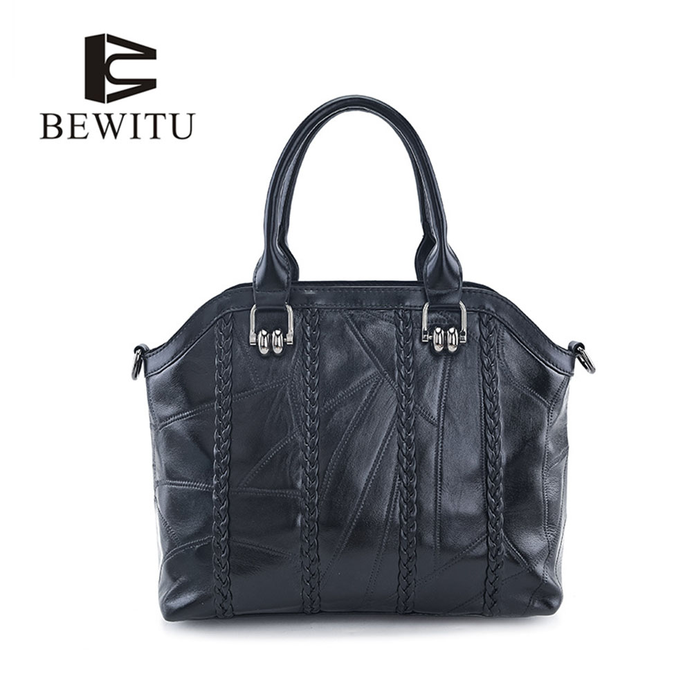 BEWITU High Quality Leather Women Bag Bucket Shoulder Bag 2017 Designer Women Leather Handbag Over The Shoulder<br>