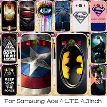 Silicone Plastic Case Cover For Samsung Galaxy Ace 4 LTE G357FZ Phone Bag Ace Style LTE G357 SM-G357FZ Captain American Cases