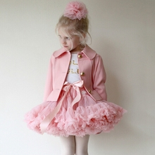 Children girls Fluffy Chiffon Pettiskirts Baby tutu Dance Party Tulle Skirt petticoat