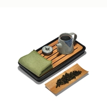 Chinese Kung Fu Tea Towels And Tea Spoon Natural Vintage Tea Ceremony Accessories Portable Teaset High Quality Absorbent Towels