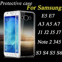 TPU Gel Case Soft Slim Super Transparent For Samsung A3 A5 A7 A8 Note2 3 4 5 J1 J5 S4 S5 Crystal Clear Rubber Back Cover Shell