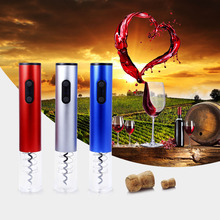 Hot Electric Wine Opener Electric Automatic Wine Bottle Opener Automatic Corkscrew With Foil Cutter And Vacuum Stopper 3 Colors(China)