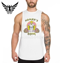 Muscleguys Brand GOLDS Gyms Vest Bodybuilding Clothing sleeveless Fitness Muscle Men Cotton Weight lifting Stringer tank tops