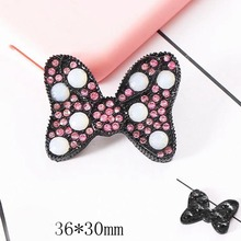 DOWER ME Lovely Cute Crystal Rhinestones Diamond Bling Red Pink Buttery Mobile Phone Decorations Alloy Stickers(China)