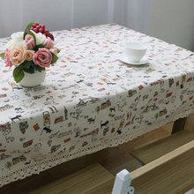 USPIRIT Table Cloth High Towel High Quality Lace Tablecloth Decorative Elegant Table Cloth Linen Table Cover HH1536
