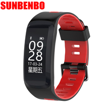 SUNBENBO F4 Bluetooth Smart Band Heart Rate Monitor Smartband Fitness Tracker and GPS Deep Waterproof Smart Bracelet for Android(China)