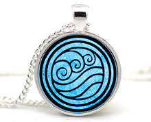 2017 New Avatar The Last Airbender Necklace Earth Kingdom Jewelry Air Nomad Fire And Water Tribe Pendant Glass Dome NecklacesHZ1