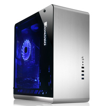Aluminum Computer Case Jonsbo UMX4 Silver Tempered glass  penetration version  large-panel