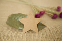 200Pcs 6*6cm Hot Sale Cute Star Kraft Paper Gift Hang Label For Party And Price Showing, Bookmark Handmade Blank Card Hang Tags