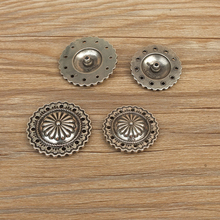 DIY Johnleather Craft Hardware Metal Conchos Antique Silver Finish 607137-32/36