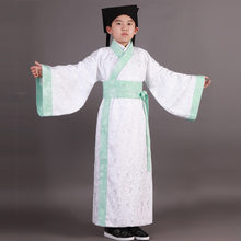 Blue Boy Children Chinese Folk Dance Hanfu Ancient Costume China Traditional Han China Clothing Dance Costumes Stage Clothing(China)