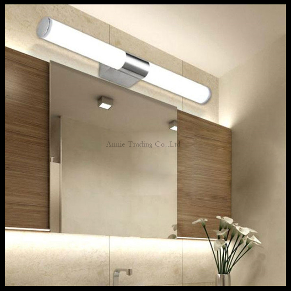 L40/46/60/80/100cm Modern LED make-up mirror light bathroom tube wall lamp 8/10/12/16/24W 360 abajur para quarto cylinder<br>