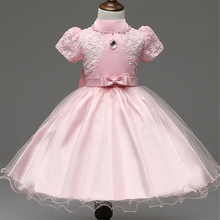 3-8T Baby Girl Christening Gowns Kids Girls Wedding Dress Party costume kids Dresses tutu Dress Infant girl Baptism Dress XD14-A(China)
