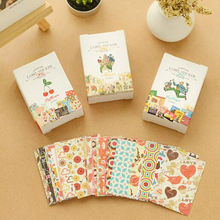 52 pcs/bag  DIY Mini Cute  Flower Paper Sticker Vintage Retro Paper for Scrapbooking Home Decoration Free shipping 522