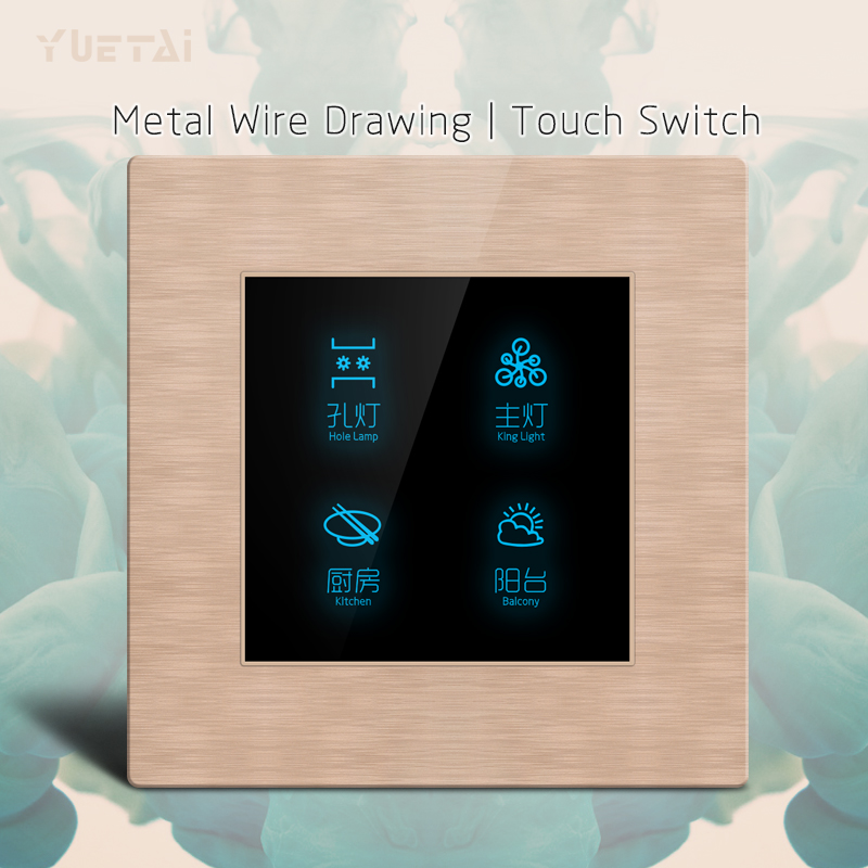 Home Automation  Wall switch Drawing function  Crystal Glass Panel Touch Switch<br>