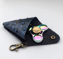 PU Leather Case for Hand Spinner EDC Fidget Toy Autism ADHD Fidget Spinner Focus Anti Stress Toy Hand Spinner Bag Case Gifts(China)