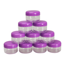 10Pcs Mini Cosmetic Empty Jar Pot Eyeshadow Makeup Face Cream Container HB88