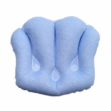 Small 4-petaled Fan-shaped Inflatable Pillow Household PVC & towel cloth inflatable Portable Outdoor Bathroom Spa Pillow