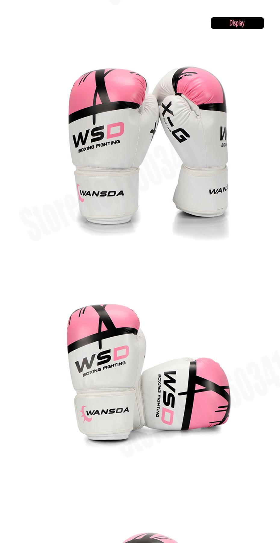18 New Pink/Gold Men/Women Boxing Fitness Gloves for Sandbag Punch Training MMA Muay Thai Sanda Karate Mitt Equipment 5