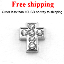 Wholesale floating cross charms for floating locket,free shipping floating locket charms(China)