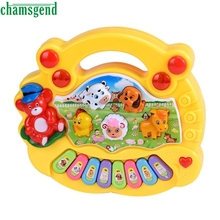 CHAMSGEND Best-seller drop ship Baby Kids Music Developmental Animal Piano Sound teclado musical Educational Toy S7