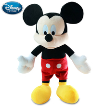 Disney Toys Mickey Mouse Minnie Plush Stuffed Doll Big Size Toys 40-45CM Birthday Gift For Children