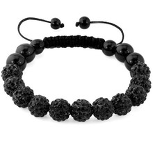 10mm white multicolor black mix colored Micro Pave Disco bead Crystal Shamballa Bracelet women men gift lot