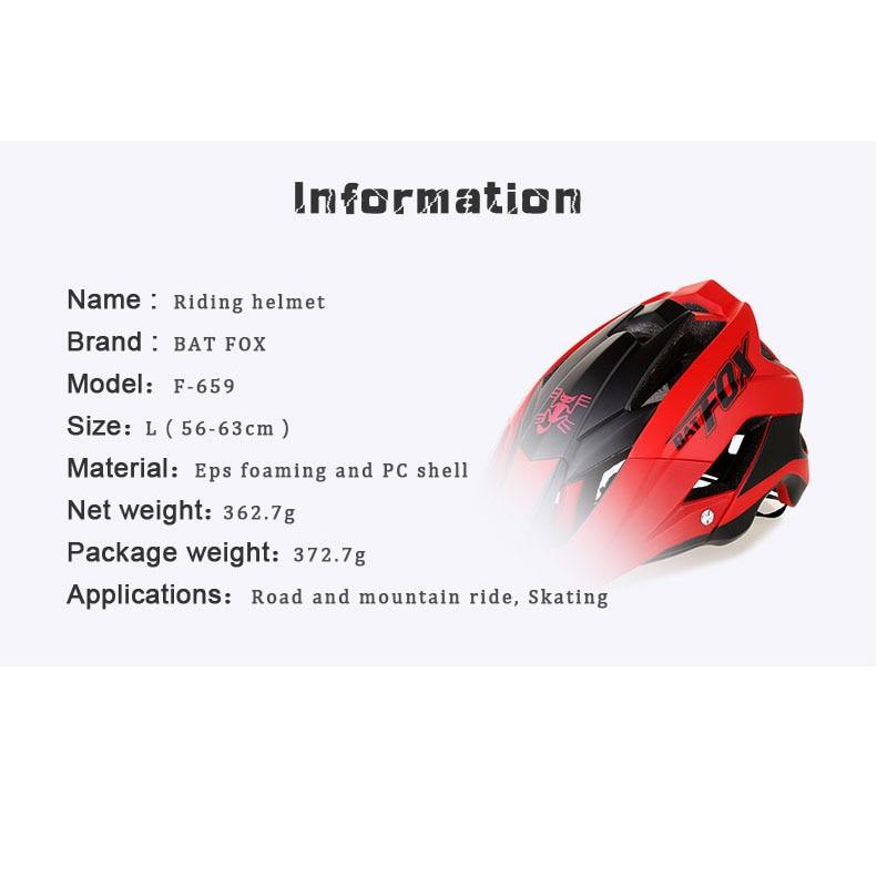 BATFOX Women Men Cycling shark Helmet cycling helmets road bike Bicycle casco specialiced ciclismo mtb hombre protone helmet 2