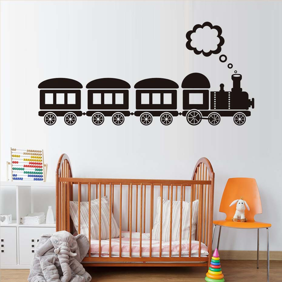 Vehicle wall stickers woodland friends wall decals home design popular vehicle wall decals buy cheap vehicle wall decals lots cartoon locomotive steam train wall stickers amipublicfo Images