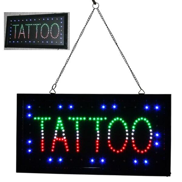 Besta Tattoo Shop TATTOO PIERCING LED Neon Light Sign Lamp Tattoo Accesories Supply<br>