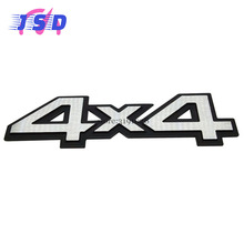 Car Styling Auto Car Metal Aluminum 3D Silver Emblem Badge Stickers for 4X4 Logo for BMW Mercedes BENZ Dodge Fiat Ford JEEP(China)