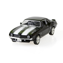 Camaro SS 1969 Black 1/36 alloy model car Kids Toys Cars Diecast Metal Pull Back Car Toy For Gift Collection