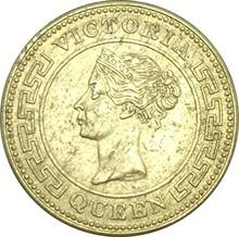 New Products India Gold Coin Victoria Queen 1891 Ceylon Quarter Cent 1/4 Brass Metal Copy Coins(China)