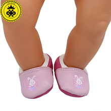 Baby Born Doll Shoes Cute Pink Casual Shoes Fit 43cm Zapf Baby Born Doll Accessories Girl Gift xie583(China)
