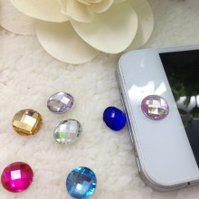 10pcs/Lot Diamond Bling Home Button Stickers for Apple iPod iPhone 3GS 4G 4S 5 5G 5S