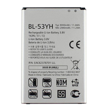 100% Original Phone Battery BL-53YH For LG G3 D855 D853 VS985 D830 D850 D851 D858 F400 Batterie 3000mAh High Quality In Stock