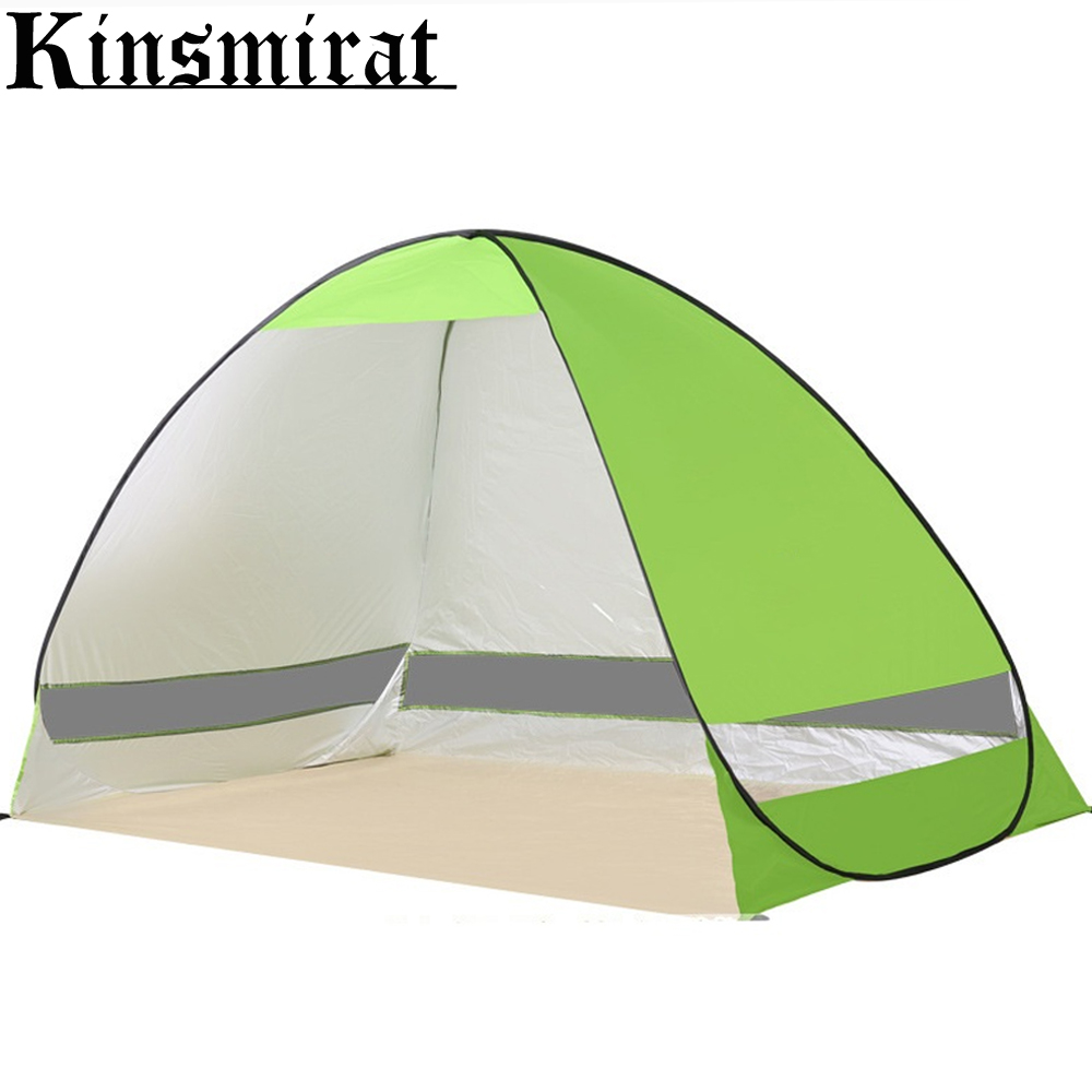Foldable tent Anti-UV lightwight Pop Beach tent sun shelter quick open tent shade for outdoor camping fishing bbq<br>