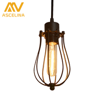 American country industrial wind engineering loft small cages retro restaurant lighting chandelier Chandelier